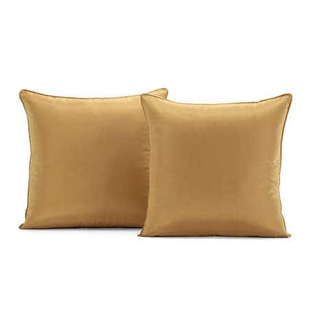 Dijon Gold Silk Taffeta Cushion Cover - Pair