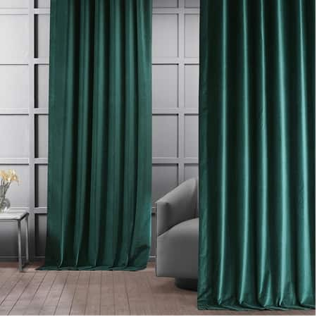 Dublin Green Vintage Cotton Velvet Curtain