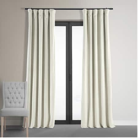 Signature Off White Blackout Velvet Curtain