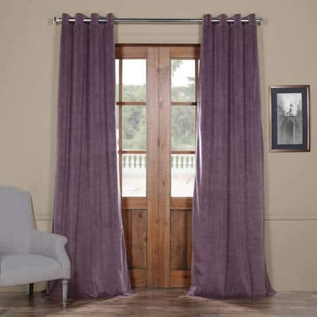 Signature Fresh Violet Grommet Blackout Velvet Curtain