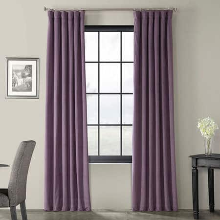 Signature Fresh Violet Blackout Velvet Curtain
