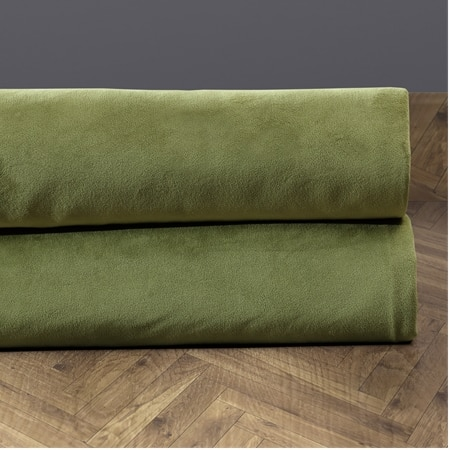 Signature Perenial Green Velvet Fabric