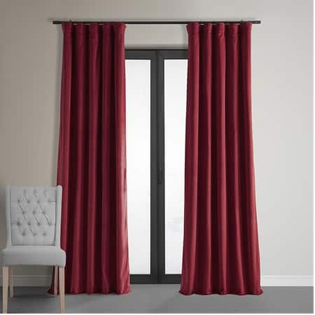 Signature Moroccan Red Blackout Velvet Curtain
