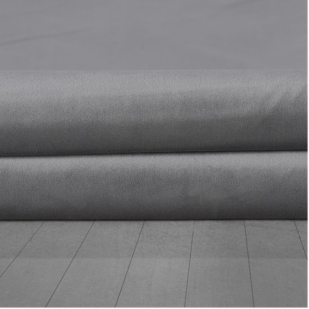 Destiny Grey Heritage Plush Velvet Fabric