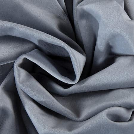 Keystone Grey Heritage Plush Velvet Fabric