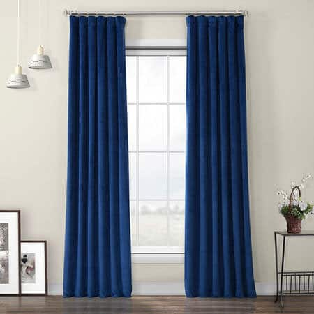 Pisces Blue Heritage Plush Velvet Curtain