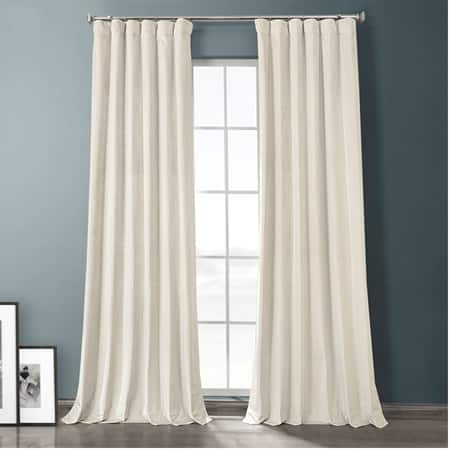 Sandalwood Beige Plush Velvet Hotel Blackout Curtain
