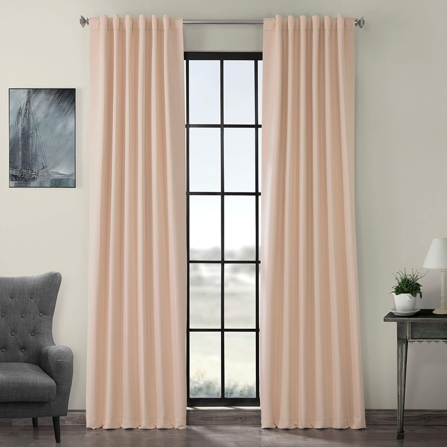 Bellini Peach Blackout Room Darkening Curtain
