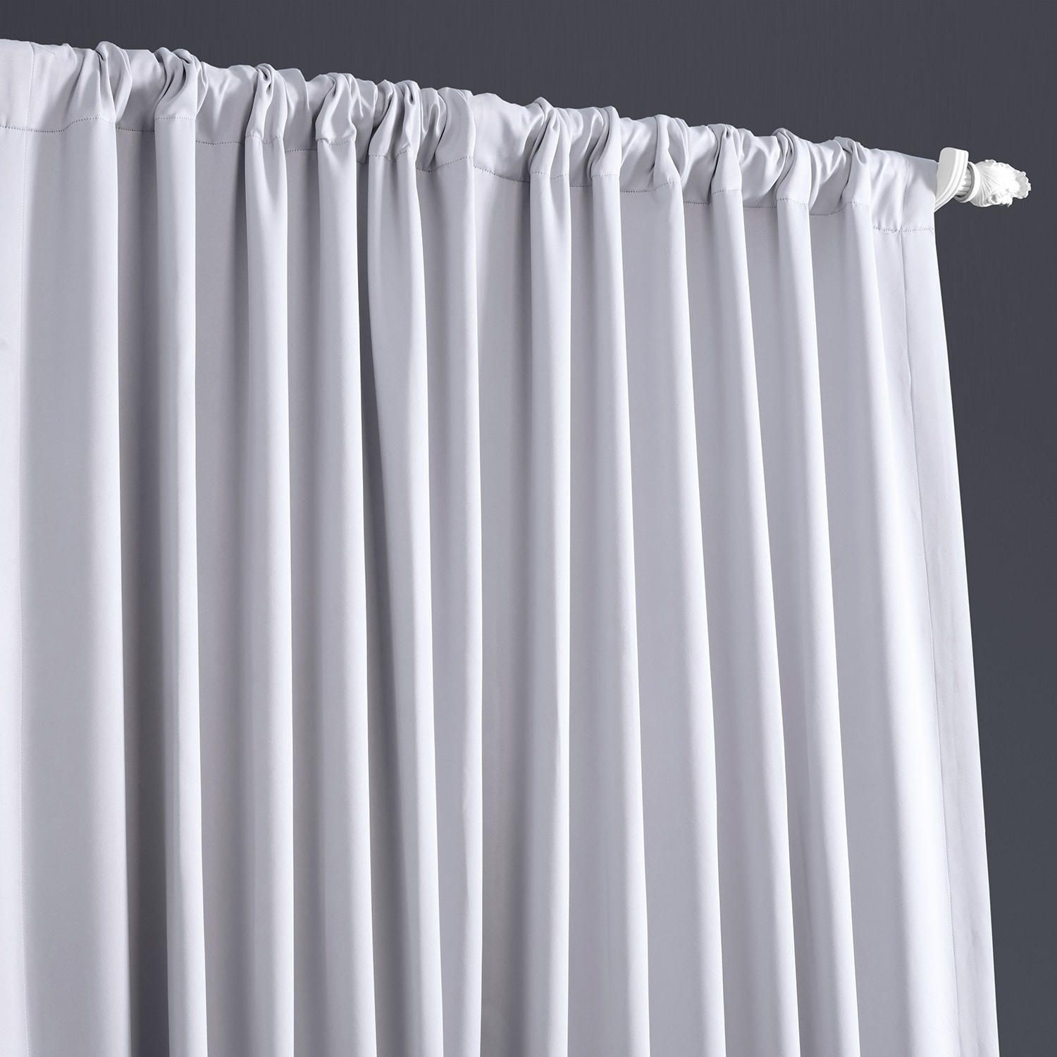 Fog Grey Extrawide Blackout Room Darkening Curtain