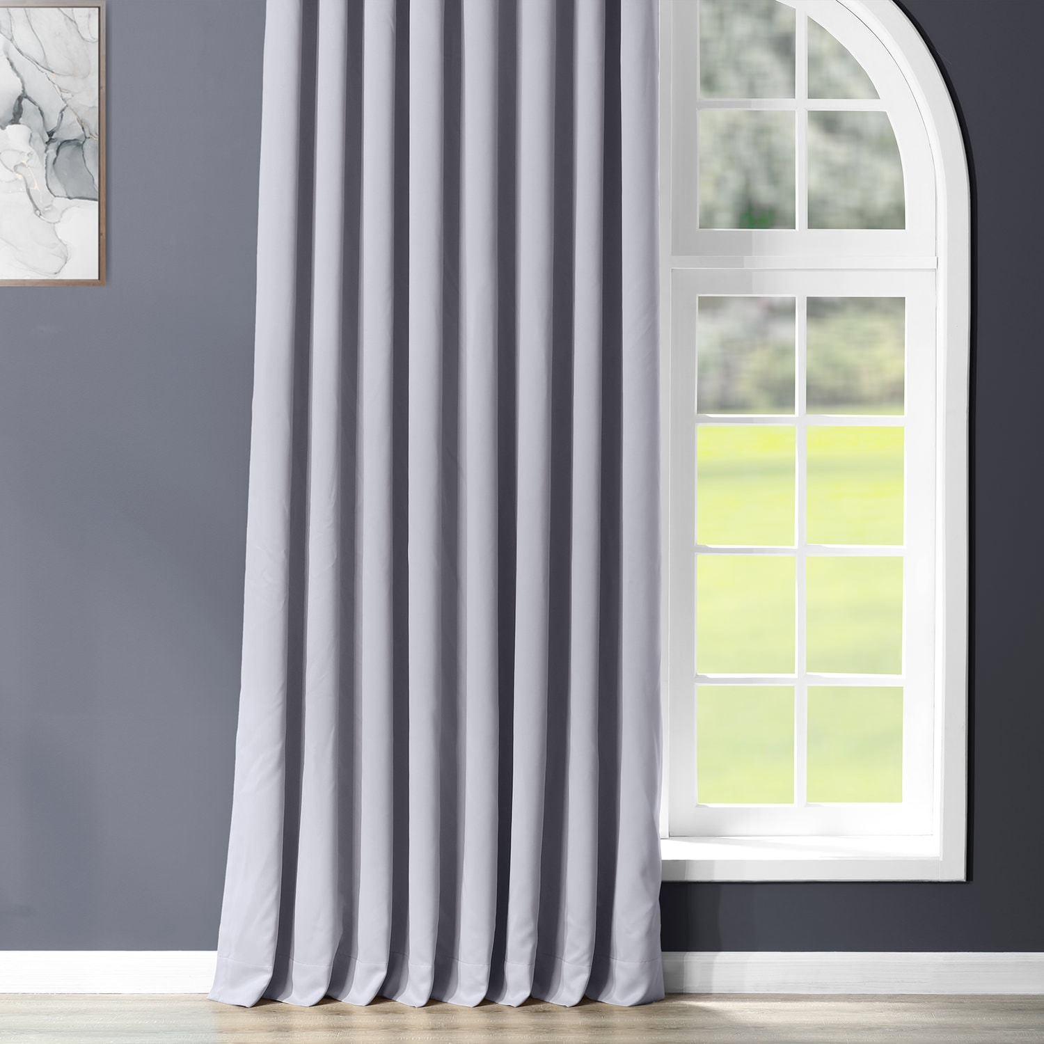 Fog Grey Grommet Extrawide Blackout Room Darkening Curtain