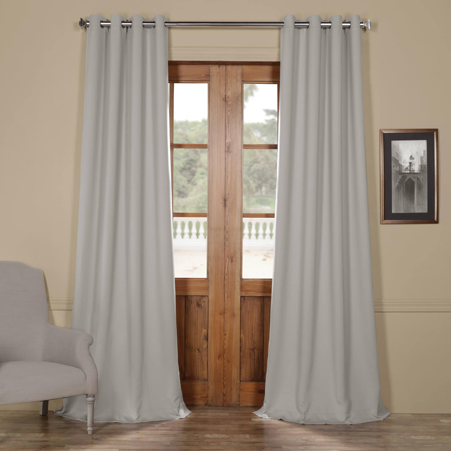 Fog Grey Grommet Blackout Curtain