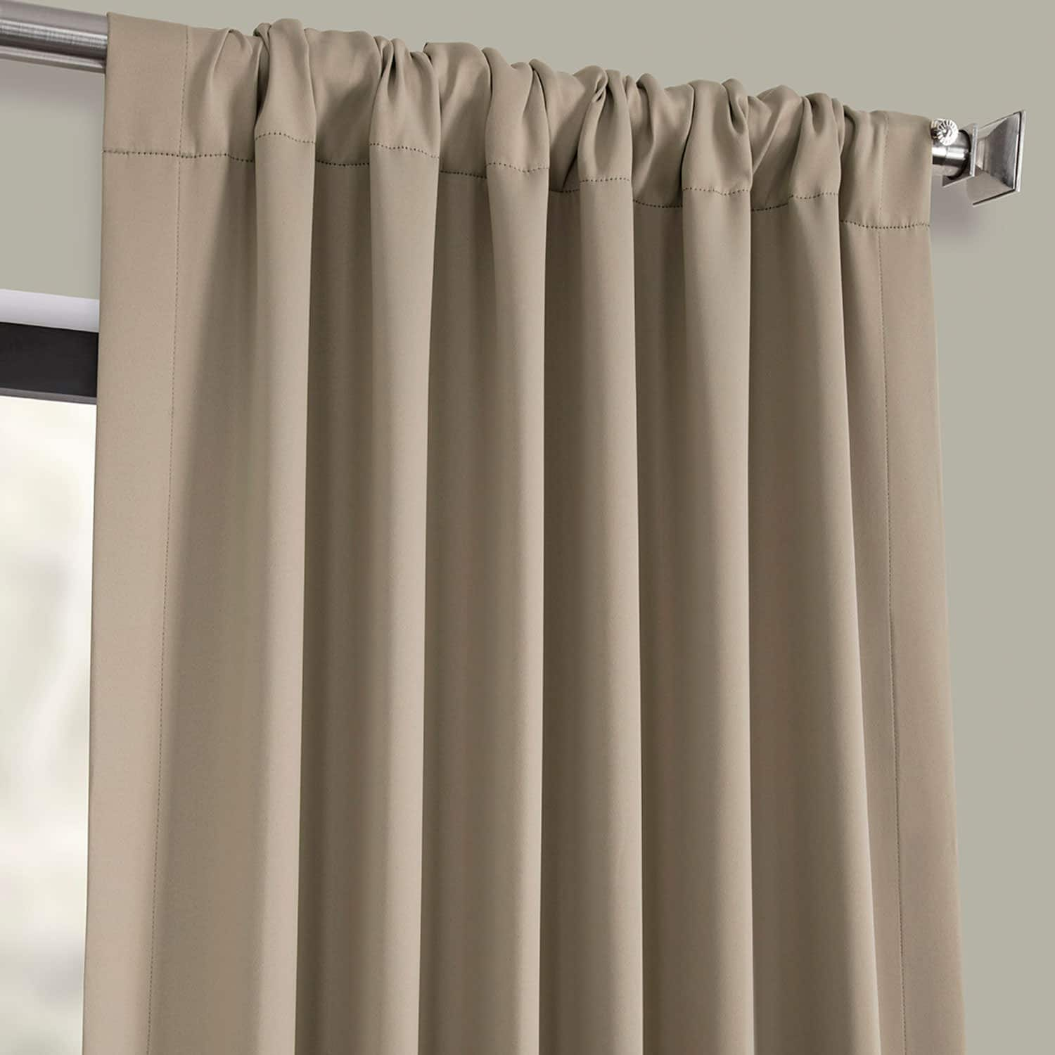 Classic Taupe Blackout Room Darkening Curtain