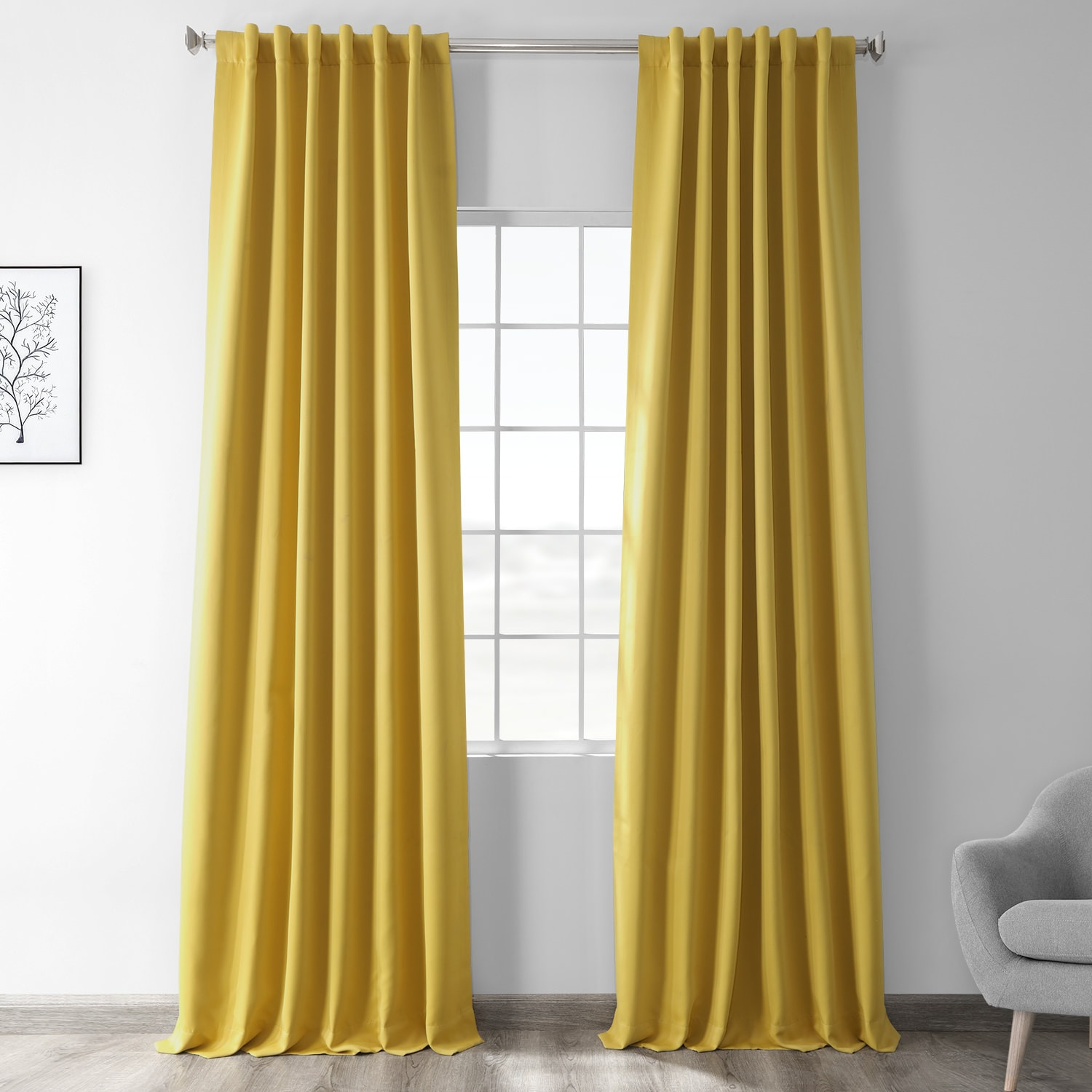 Solarium Yellow Blackout Room Darkening Curtain