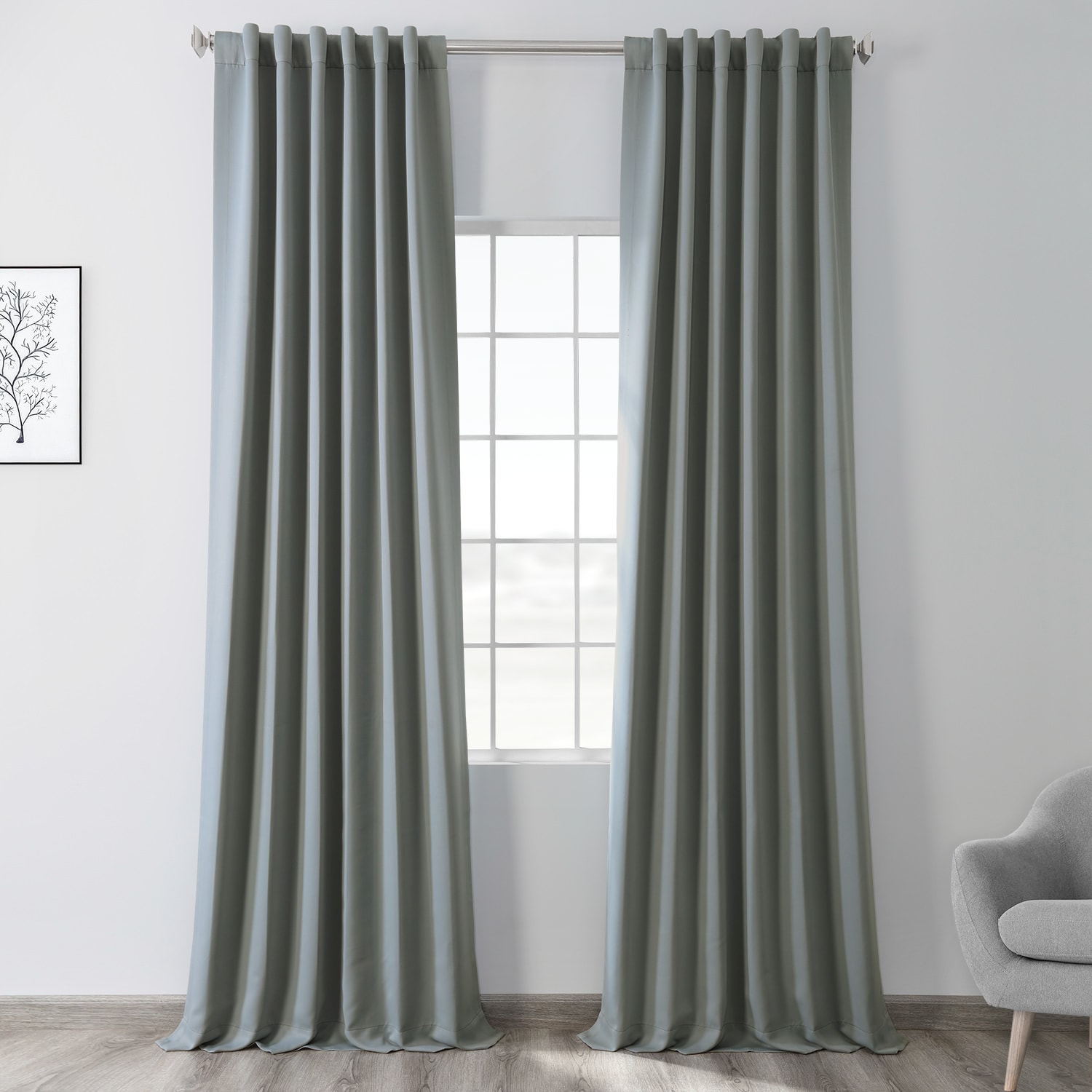 Blue Fir Blackout Room Darkening Curtain