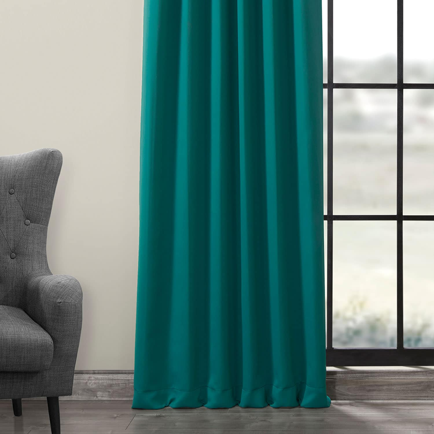 Nordic Green Blackout Room Darkening Curtain