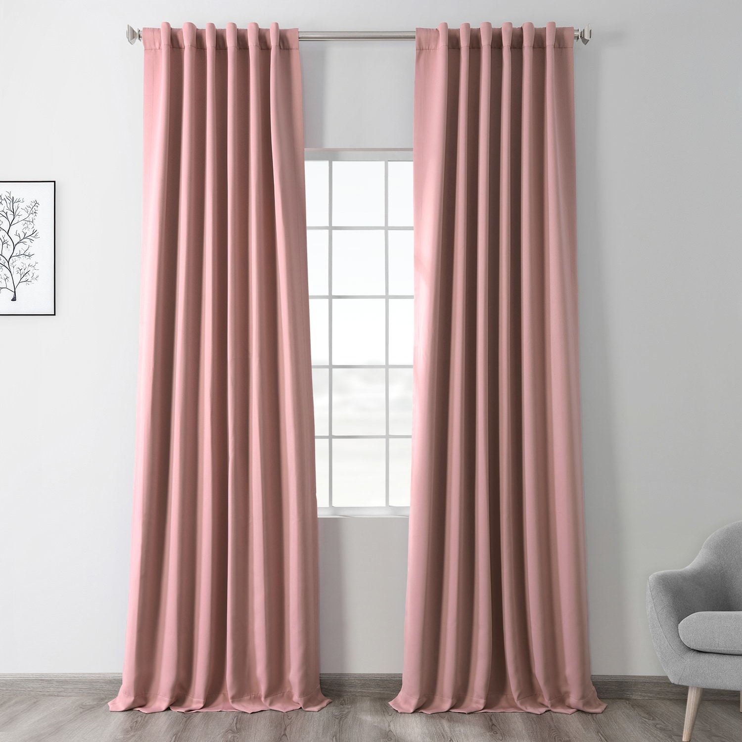 Fresco Blush Blackout Room Darkening Curtain