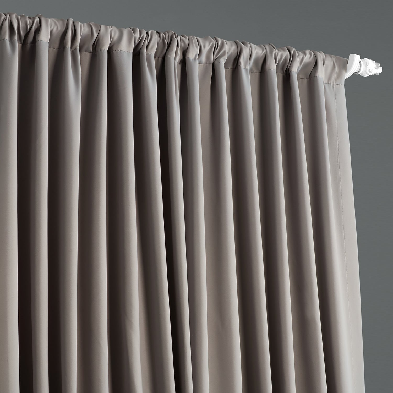 Neutral Grey Extra Wide Room Darkening Curtain