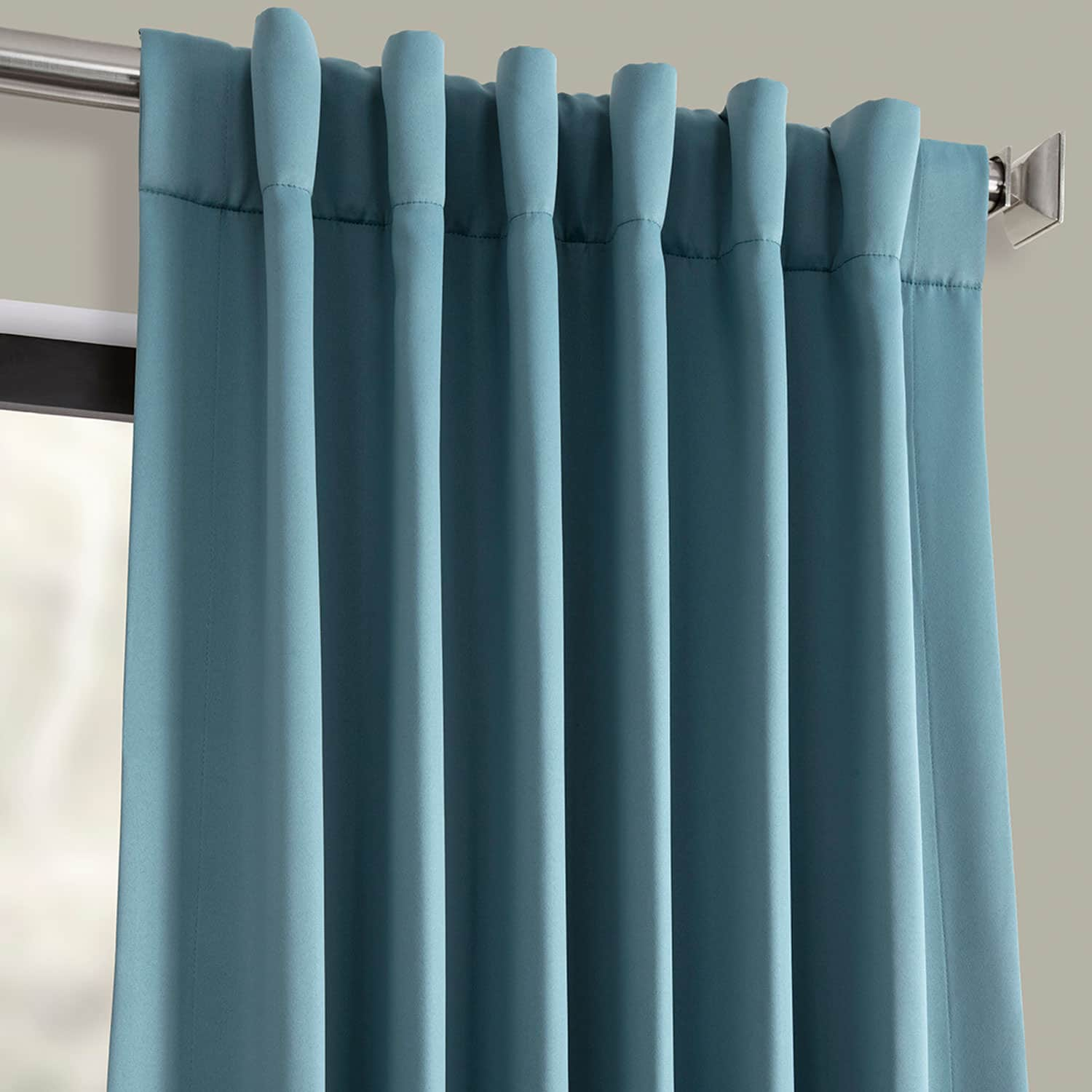 Dragonfly Teal Blackout Room Darkening Curtain