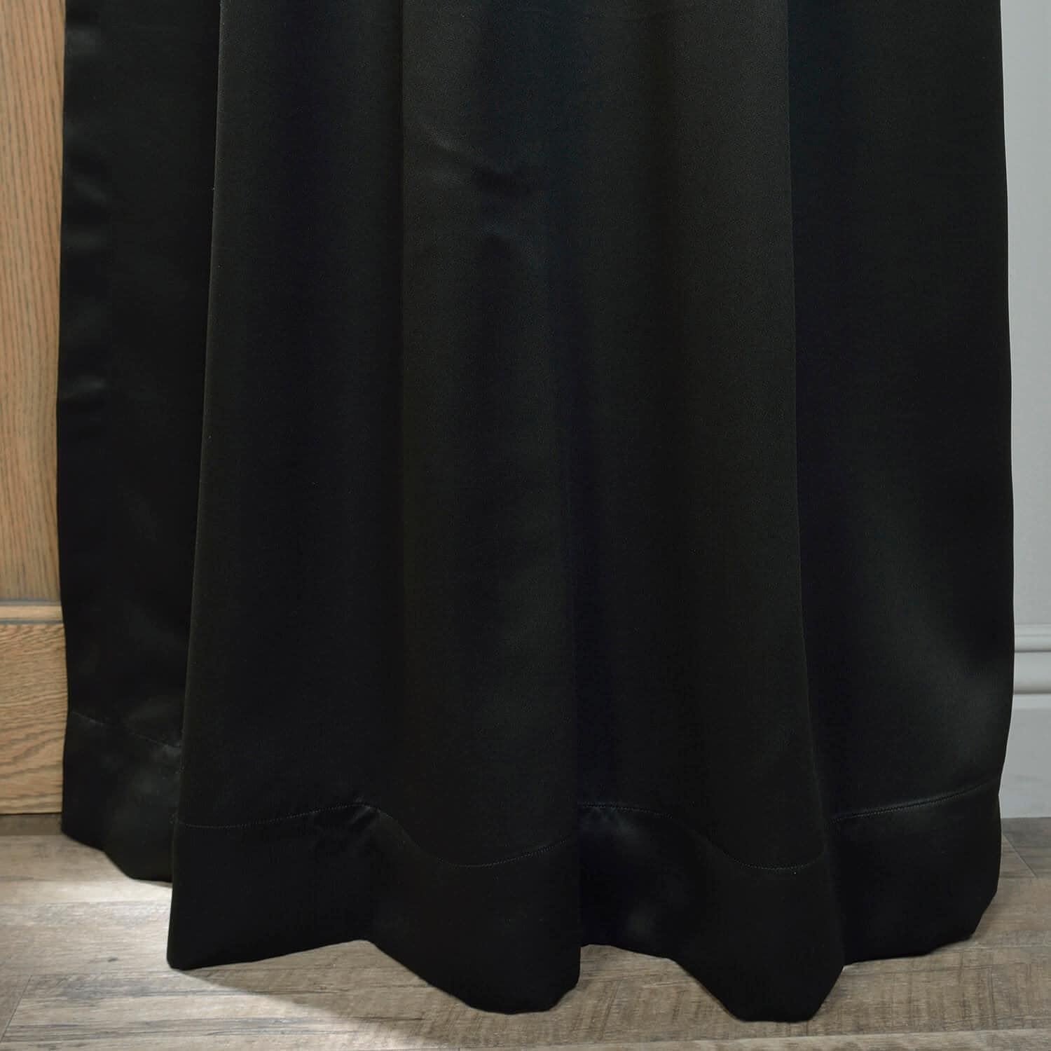 Jet Black Grommet Blackout Room Darkening Curtain