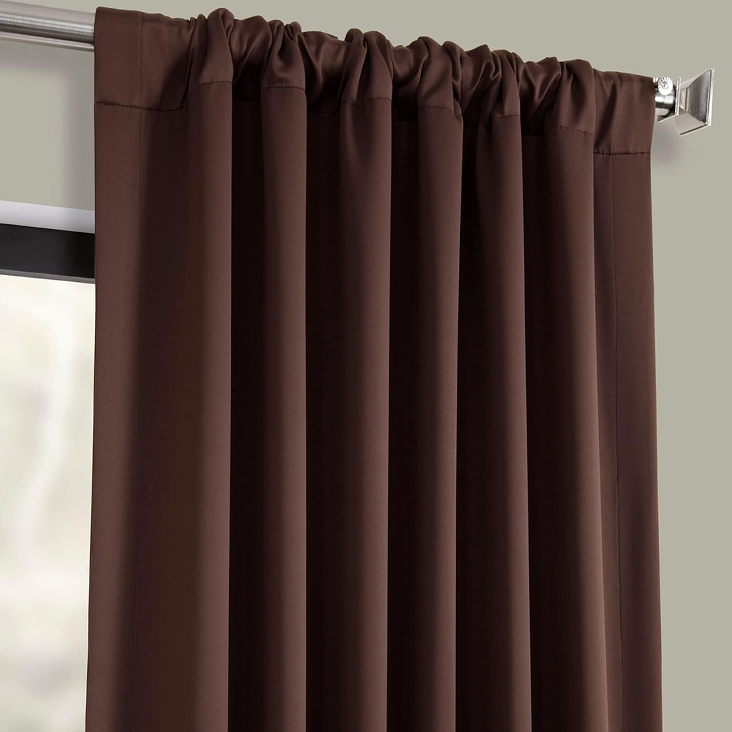 Java Pole Pocket Blackout Room Darkening Curtain