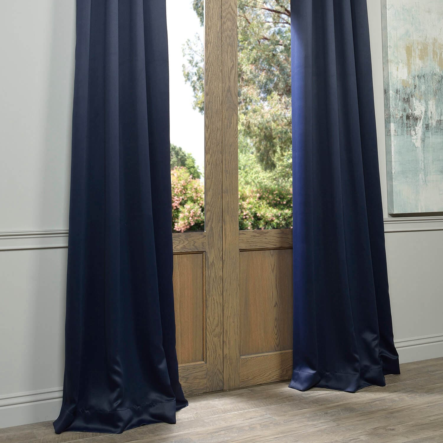 Navy Blue Grommet Blackout Curtain