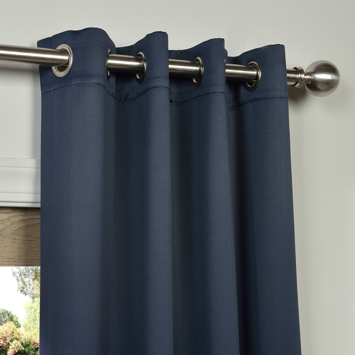 navy blue blackout drapes with grommets half price drapes. Black Bedroom Furniture Sets. Home Design Ideas