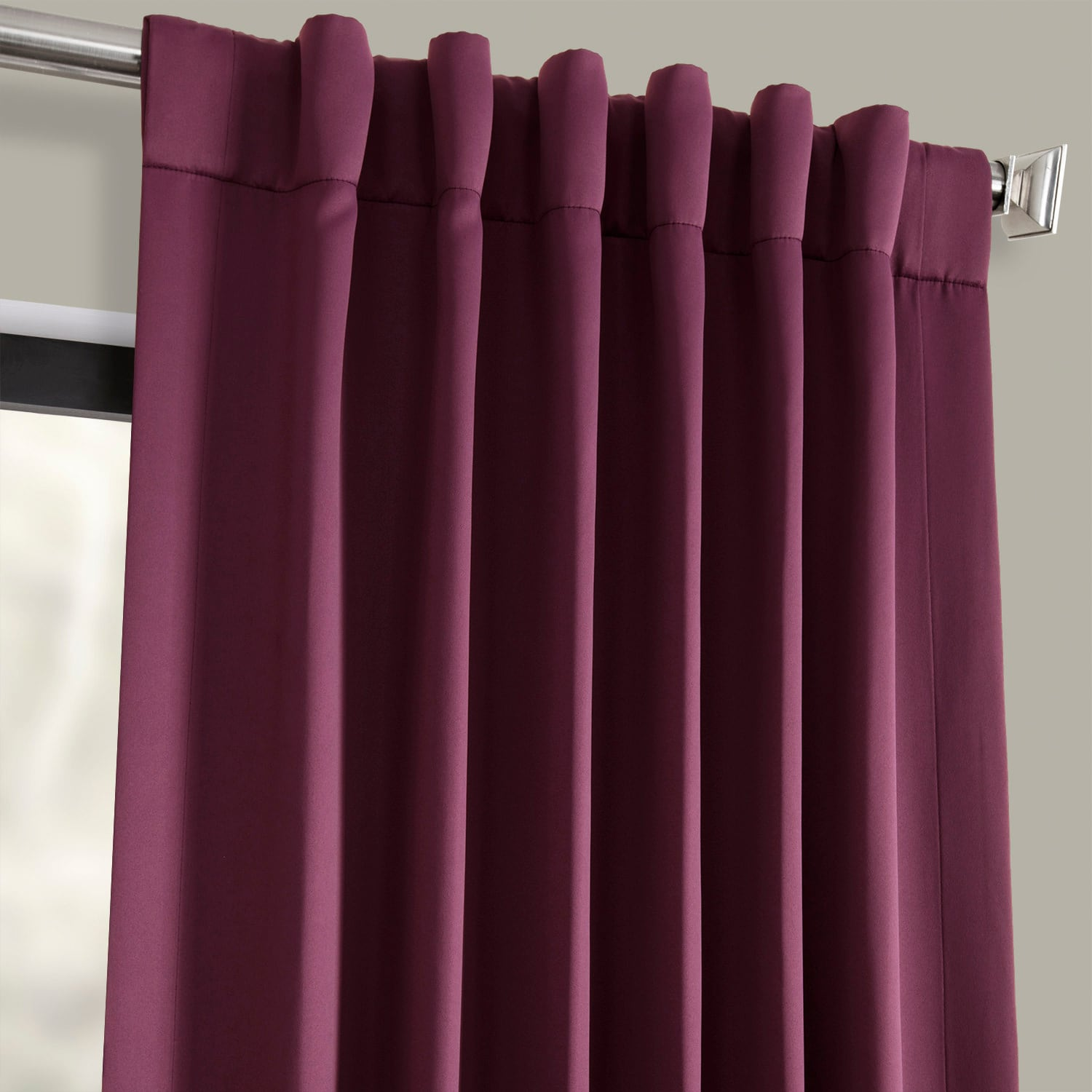 Aubergine Blackout Room Darkening Curtain