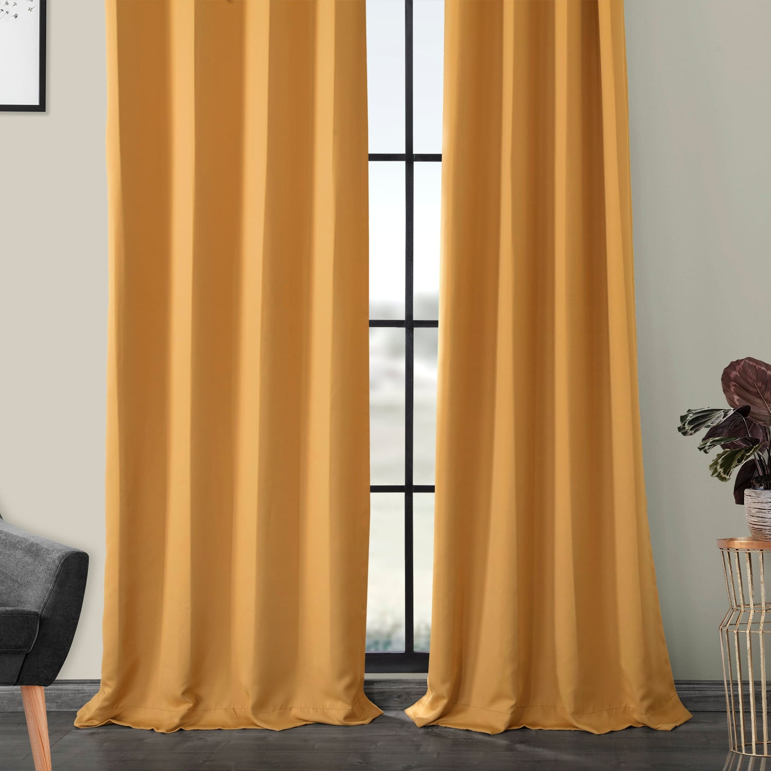 Marigold Grommet Blackout Room Darkening Curtain