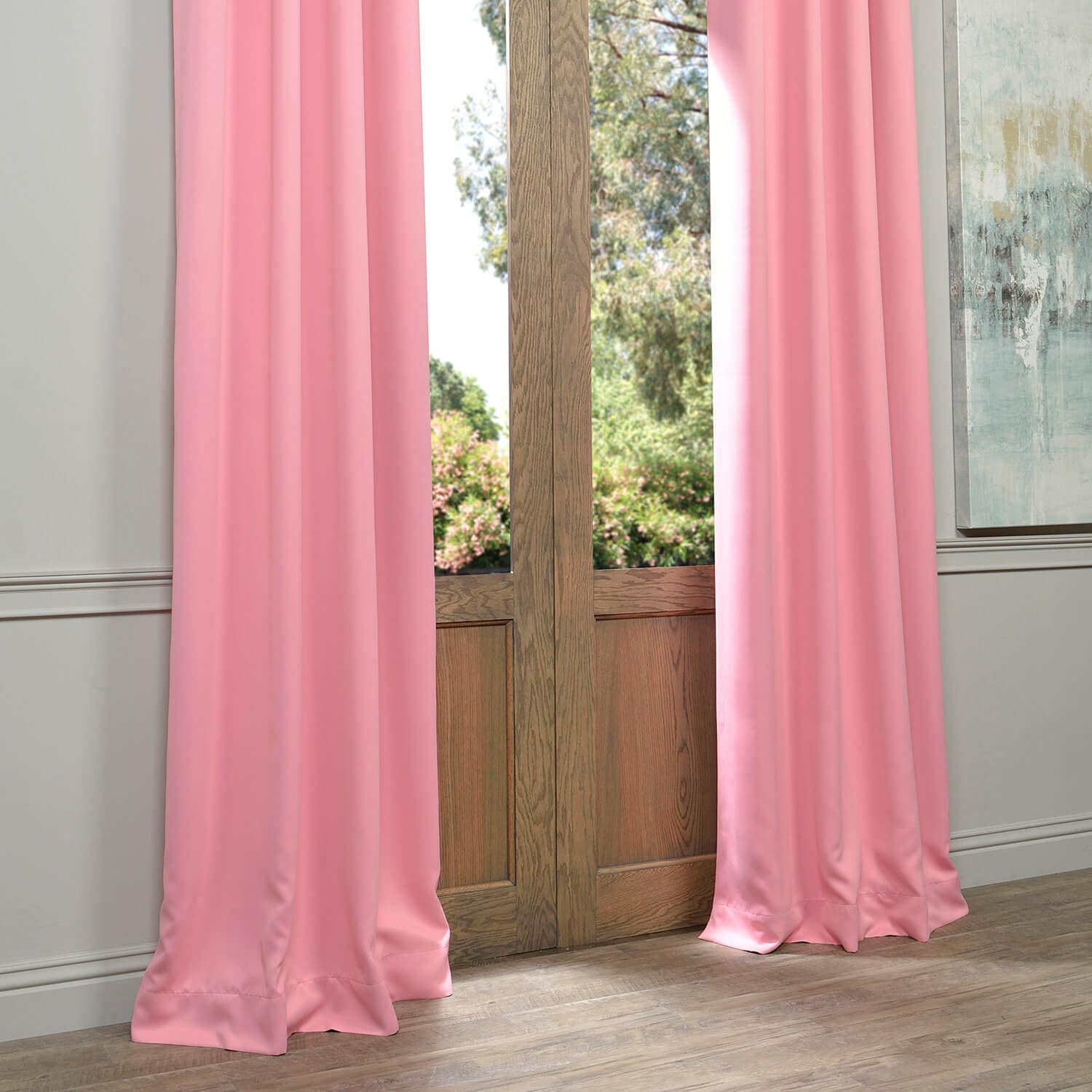 Precious Pink Grommet Blackout Room Darkening Curtain