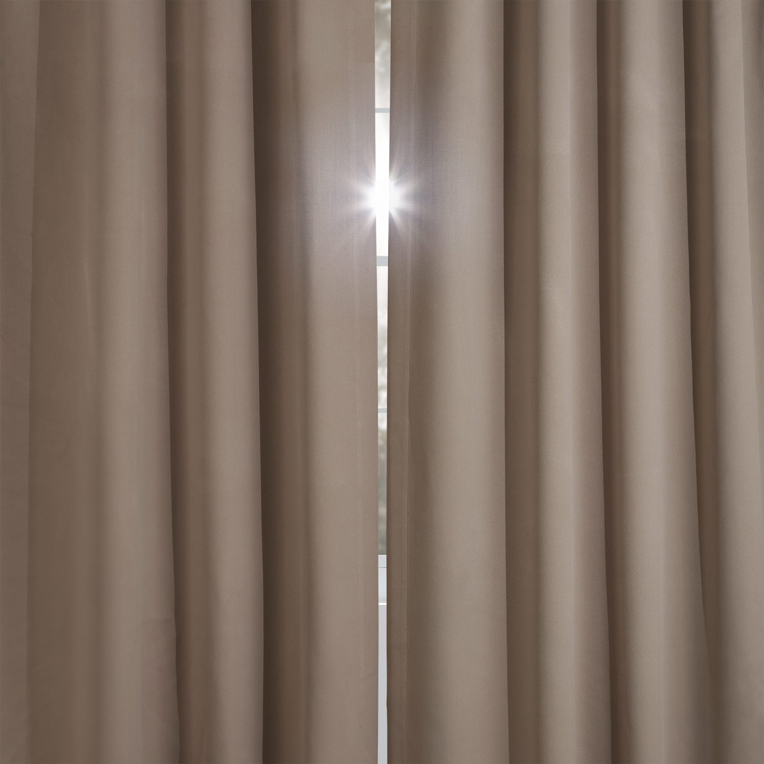 Formal Taupe Blackout Room Darkening Curtain