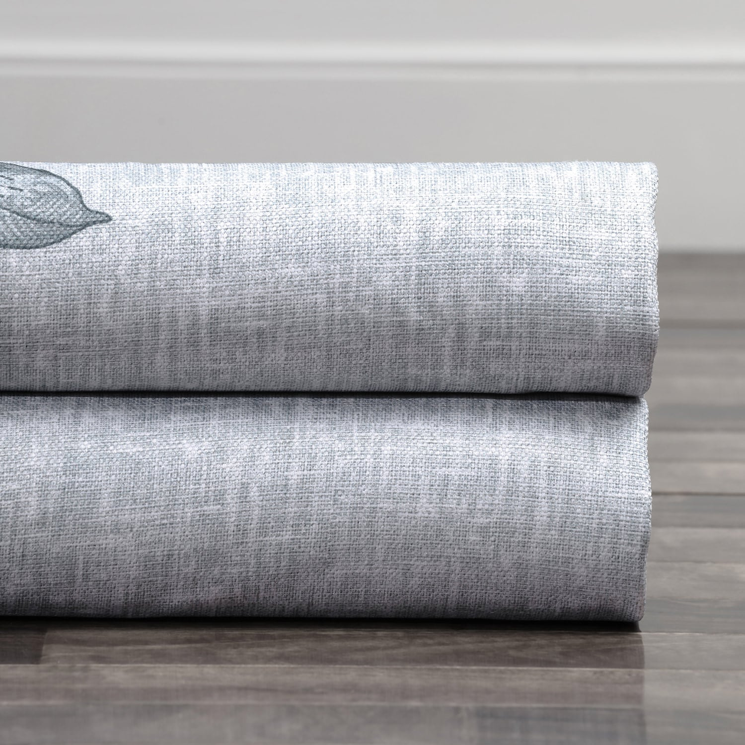 Copenhagen Grey Printed Linen Textured Blackout Swatch