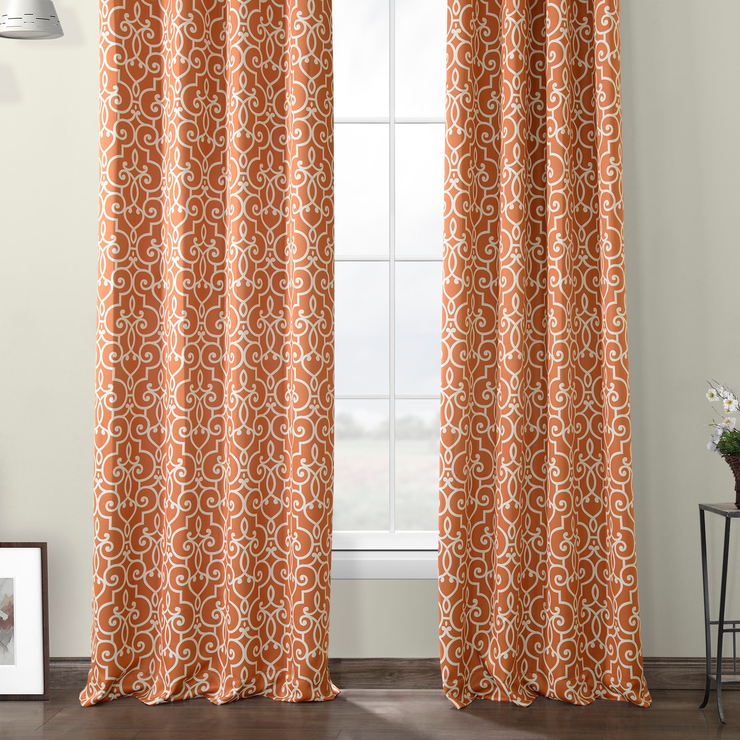 Nouveau Rust Grommet Blackout Room Darkening Curtain