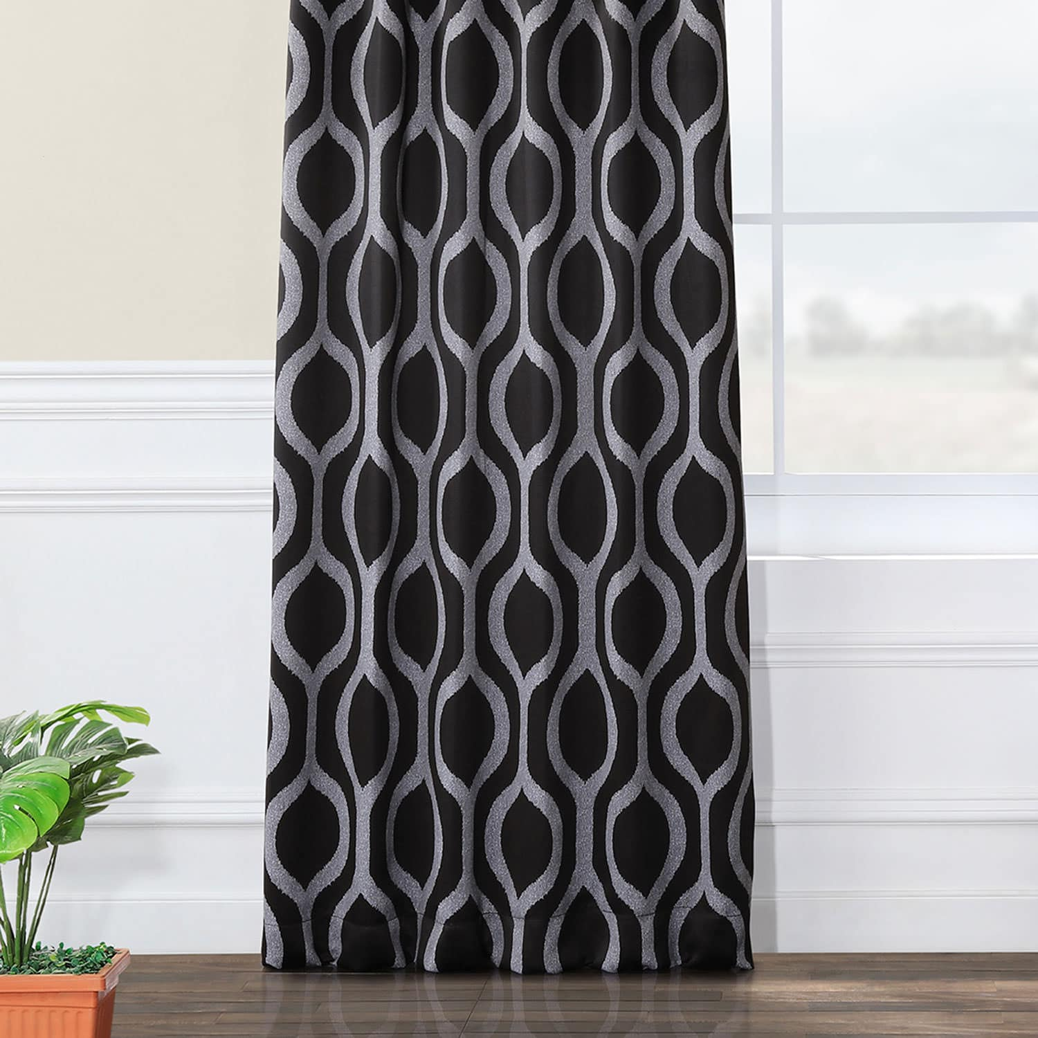 Cordon Black Blackout Curtain