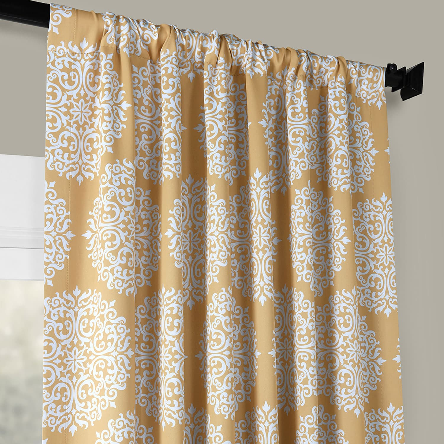 Meridian Gold Blackout Room Darkening Curtain