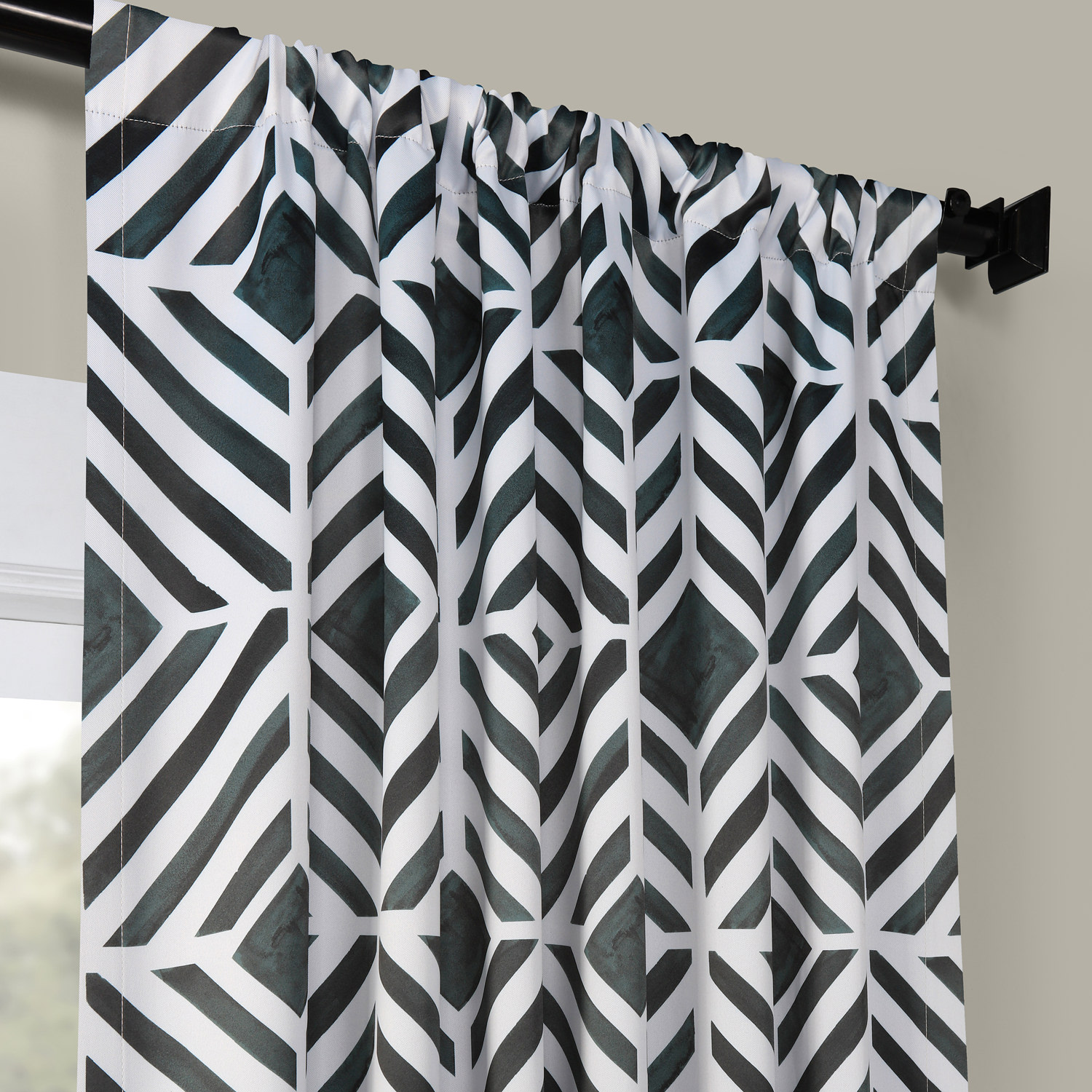Palisade Charcoal Room Darkening Curtain