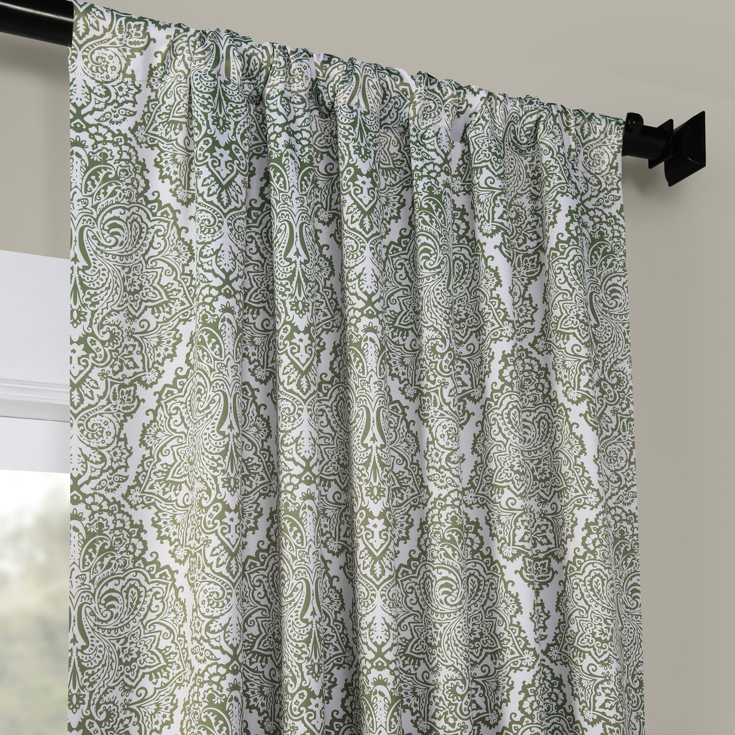 Amara Green Room Darkening Curtain