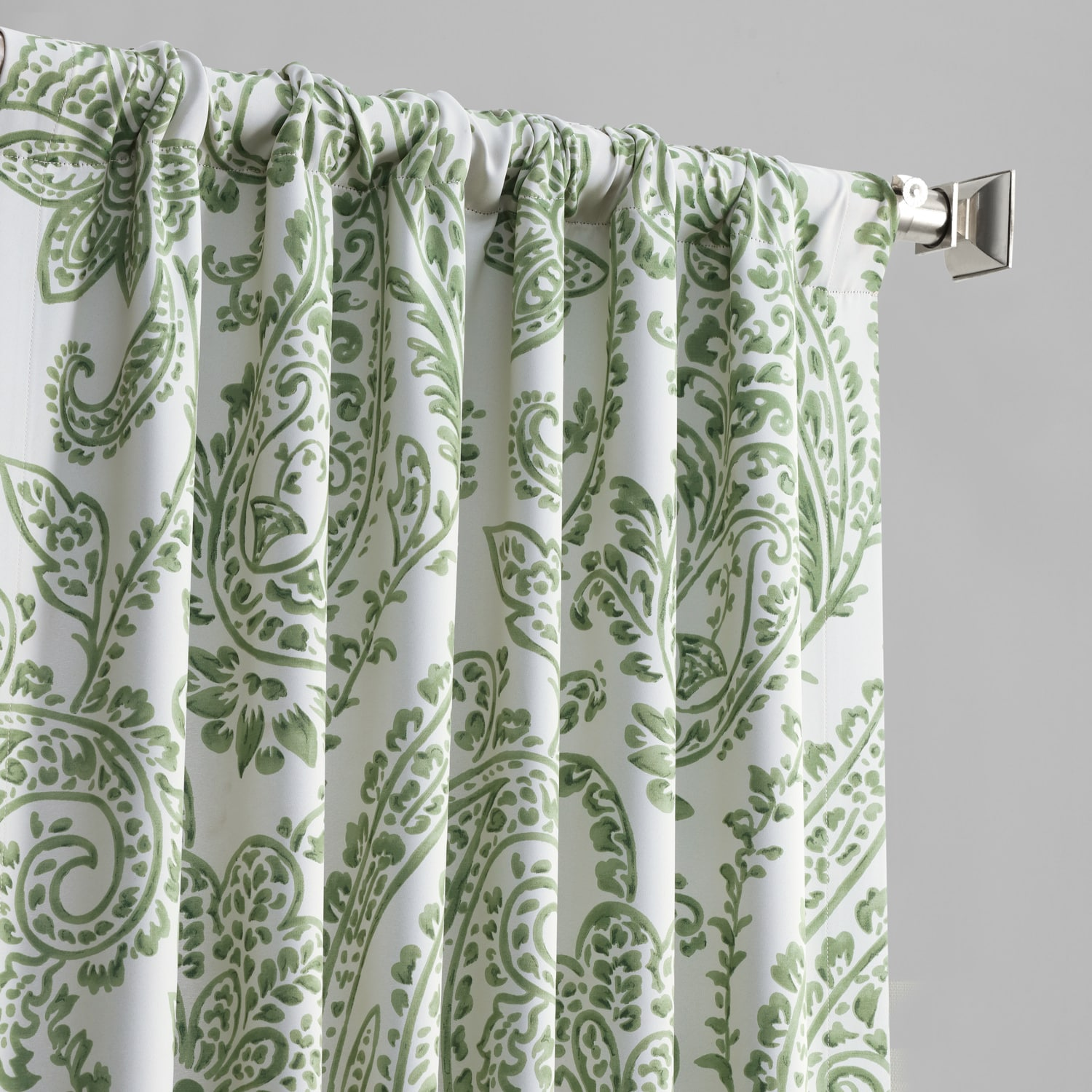 Tea Time Green Blackout Curtain