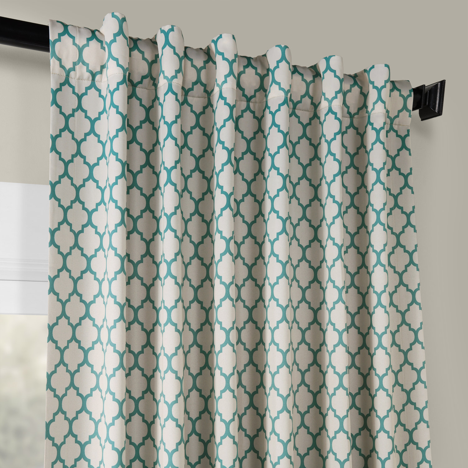 Casablanca Teal Blackout Room Darkening Curtain