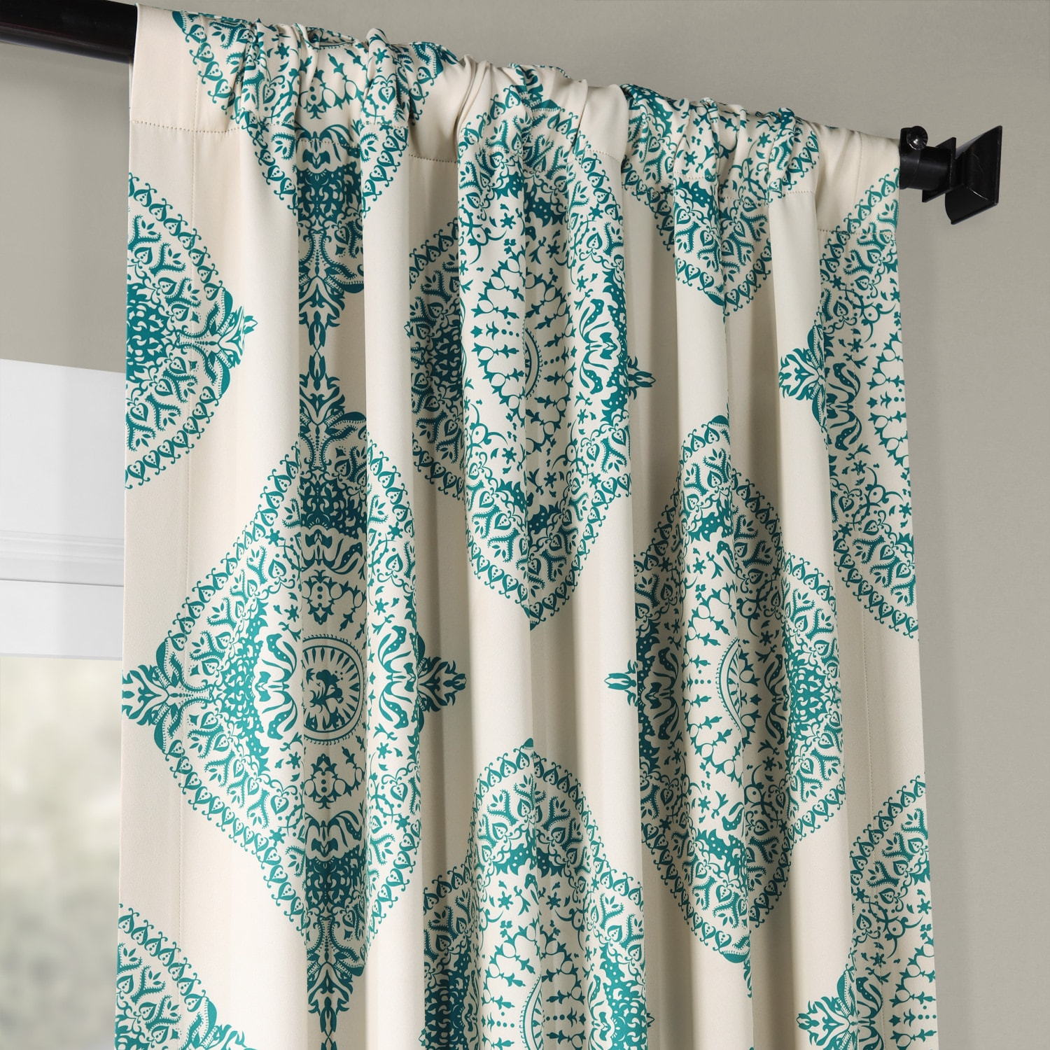Henna Teal Blackout Room Darkening Curtain