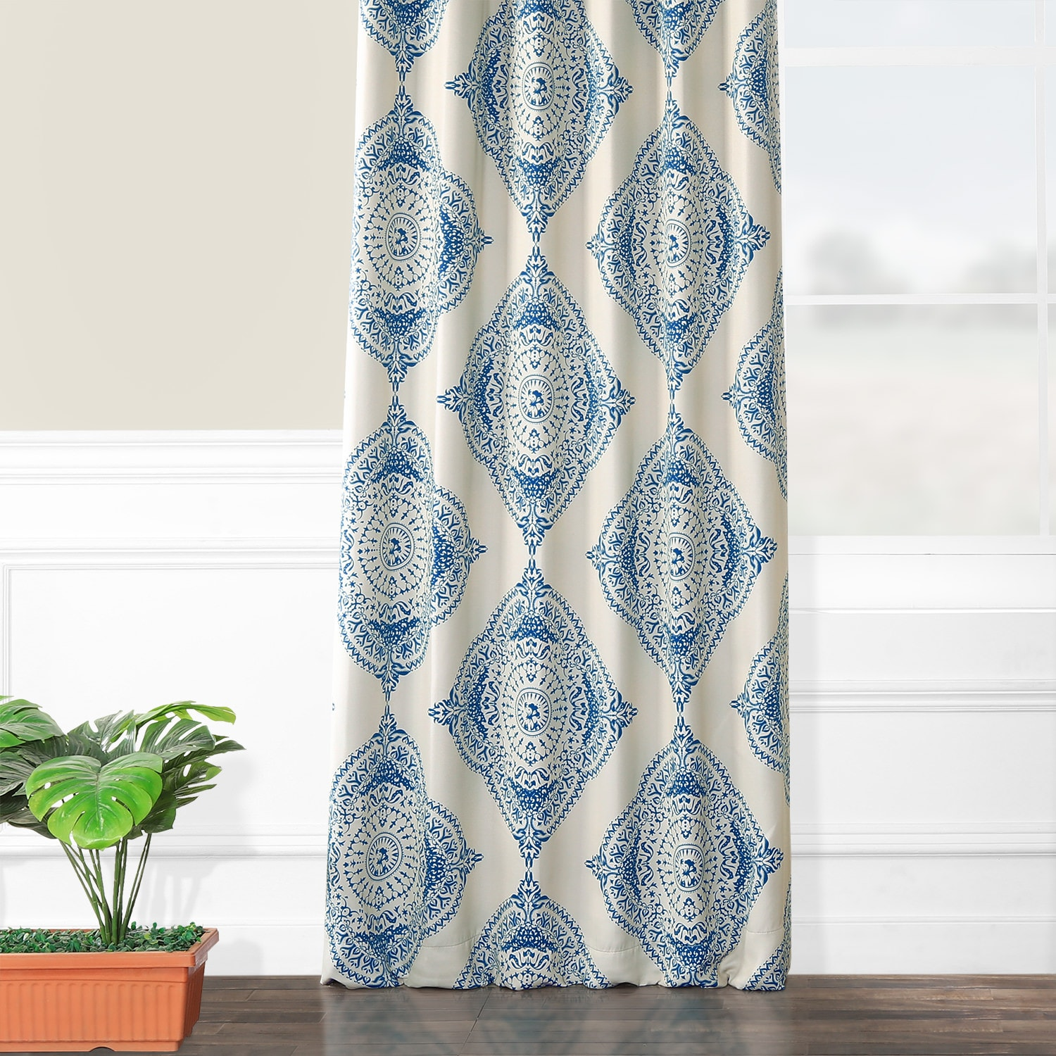 Henna Blue Blackout Room Darkening Curtain
