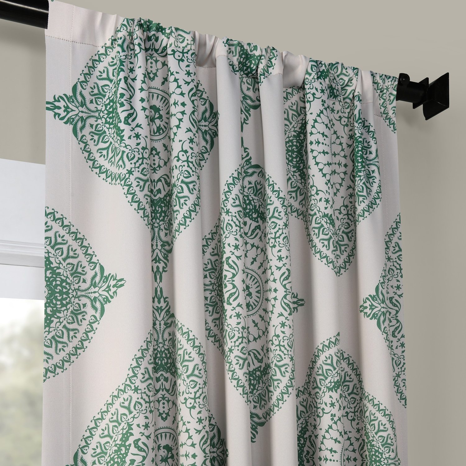 Henna Clover Blackout Room Darkening Curtain