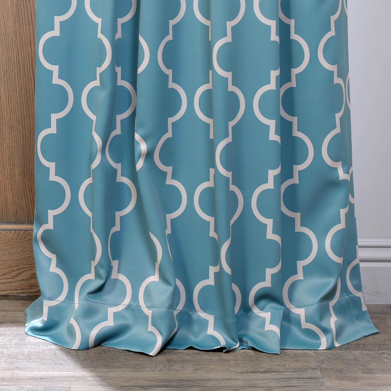 Seville Dusty Teal Blackout Room Darkening Curtain