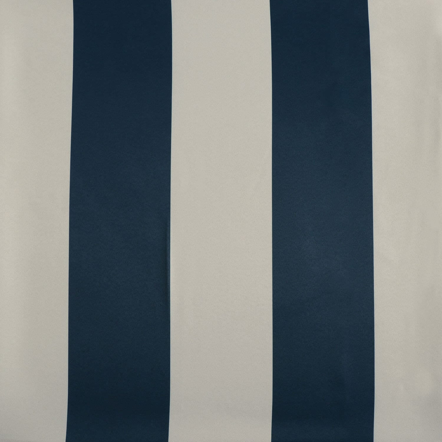 Navy & Cream Striped Blackout Curtain