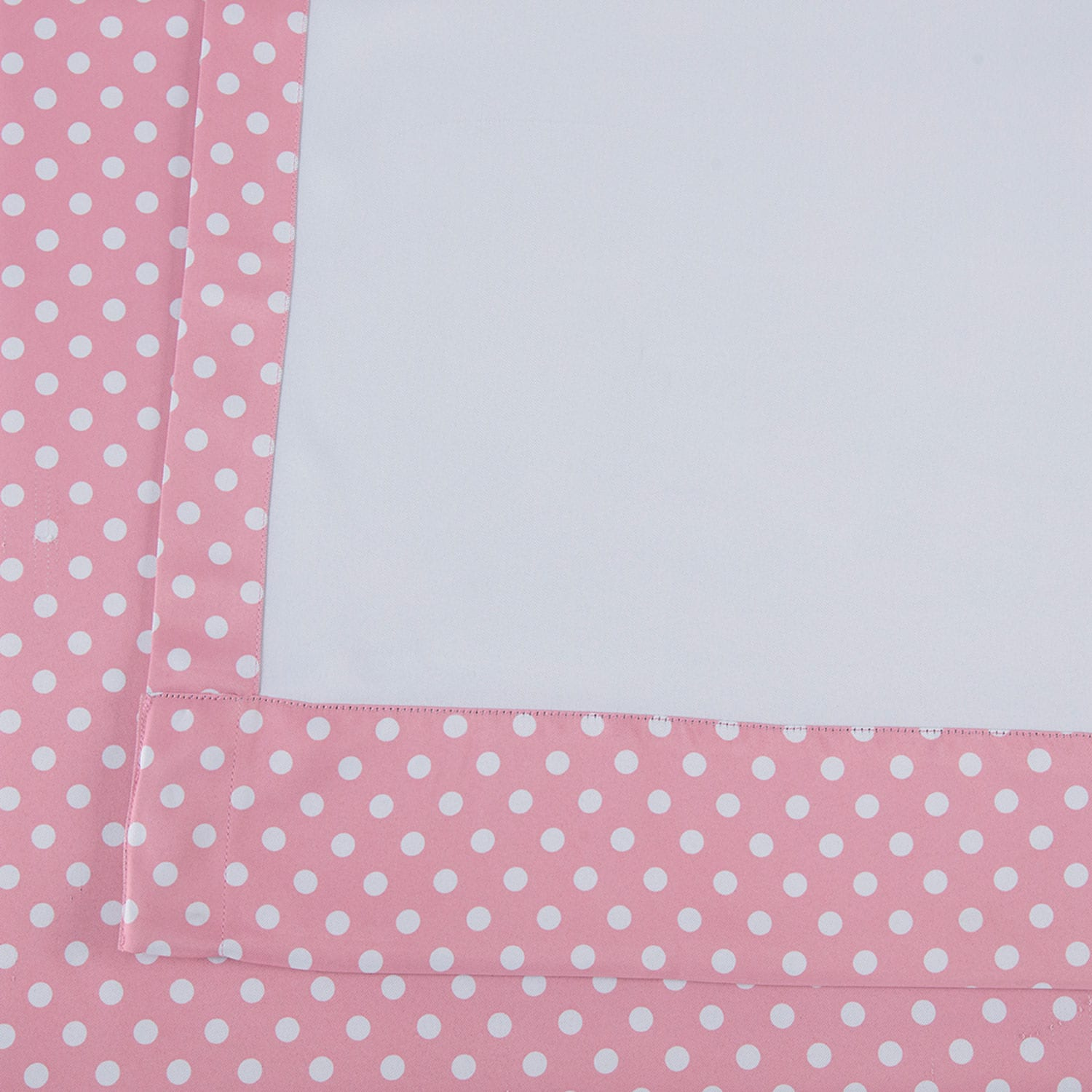 Pink Polka Dot Blackout Room Darkening Curtain
