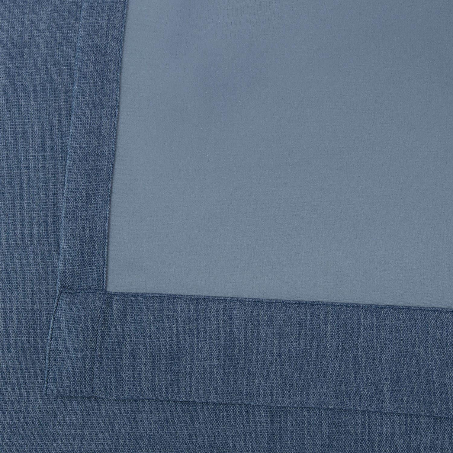 Denim Faux Linen Extra Wide Blackout Room Darkening Curtain