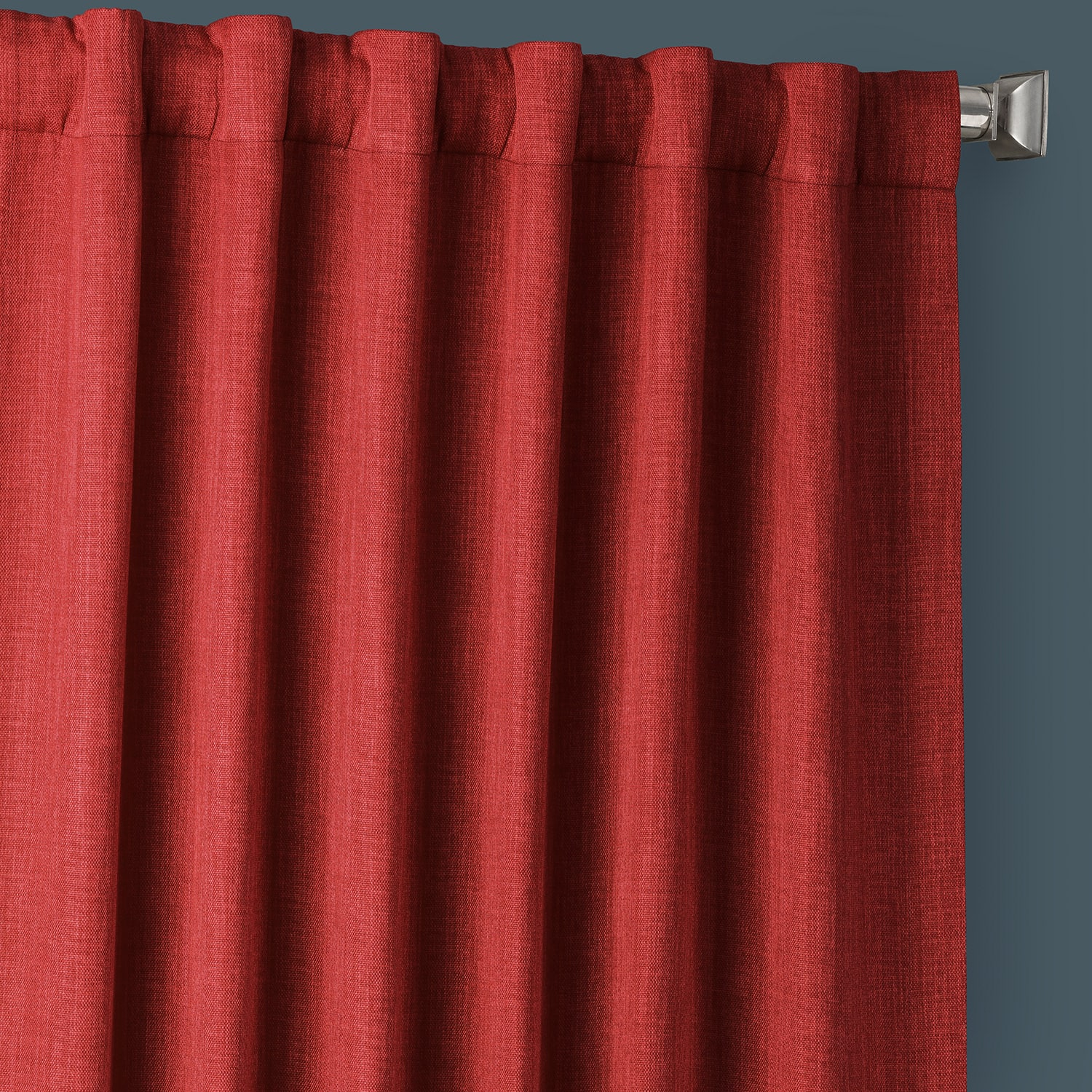 Cardinal Faux Linen Blackout Room Darkening Curtain