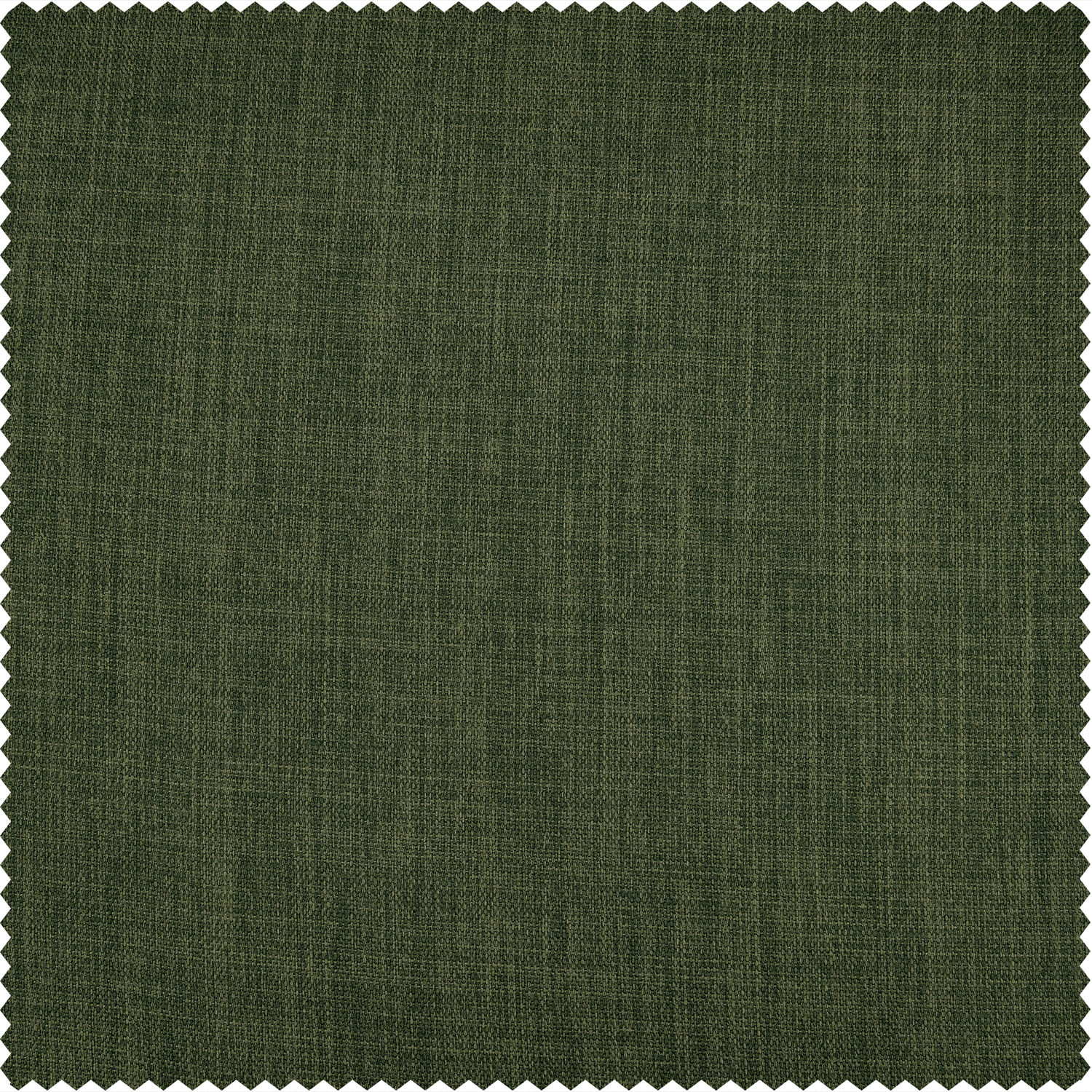 Tuscany Green Faux Linen Blackout Room Darkening Swatch