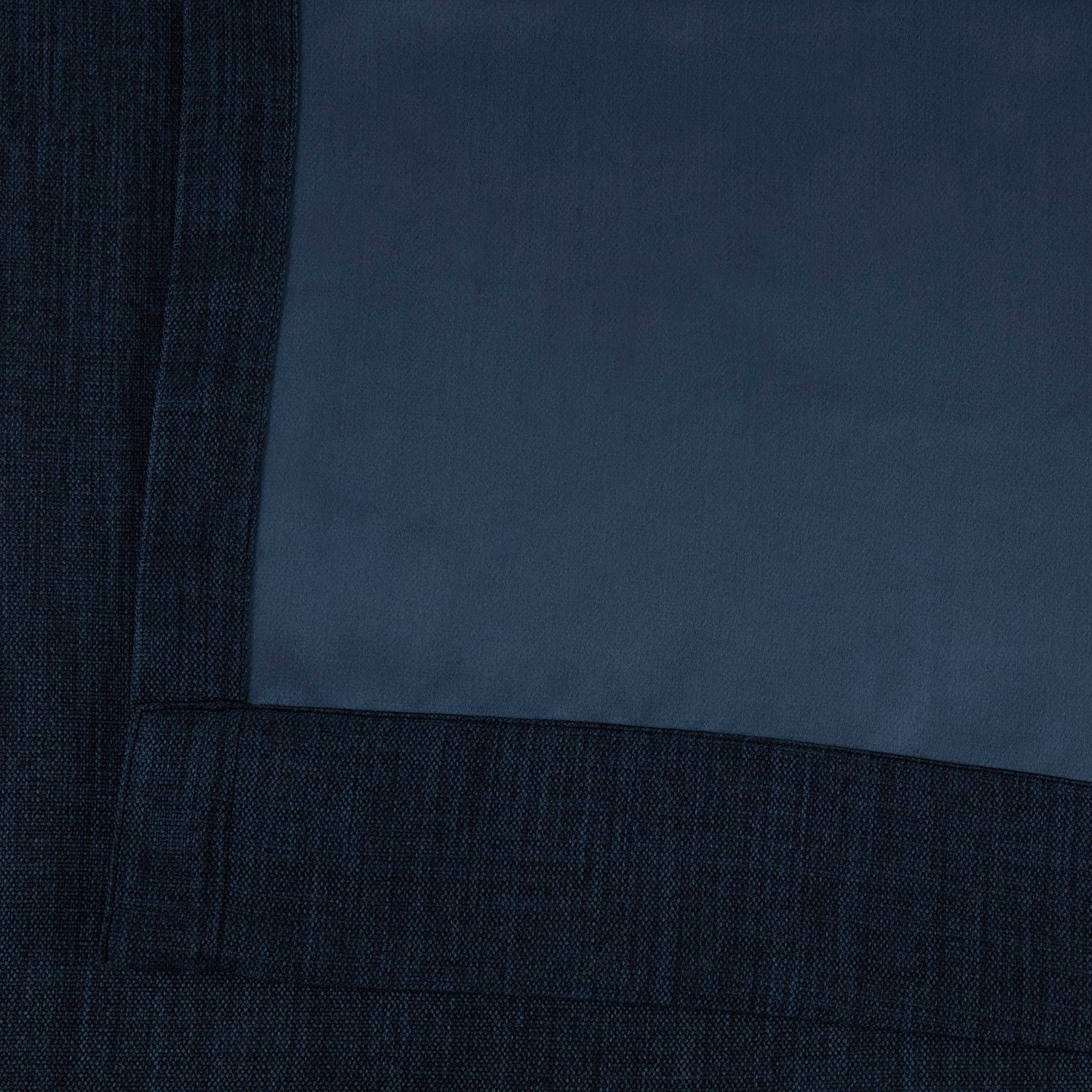 Indigo Faux Linen Extra Wide Blackout Room Darkening Curtain