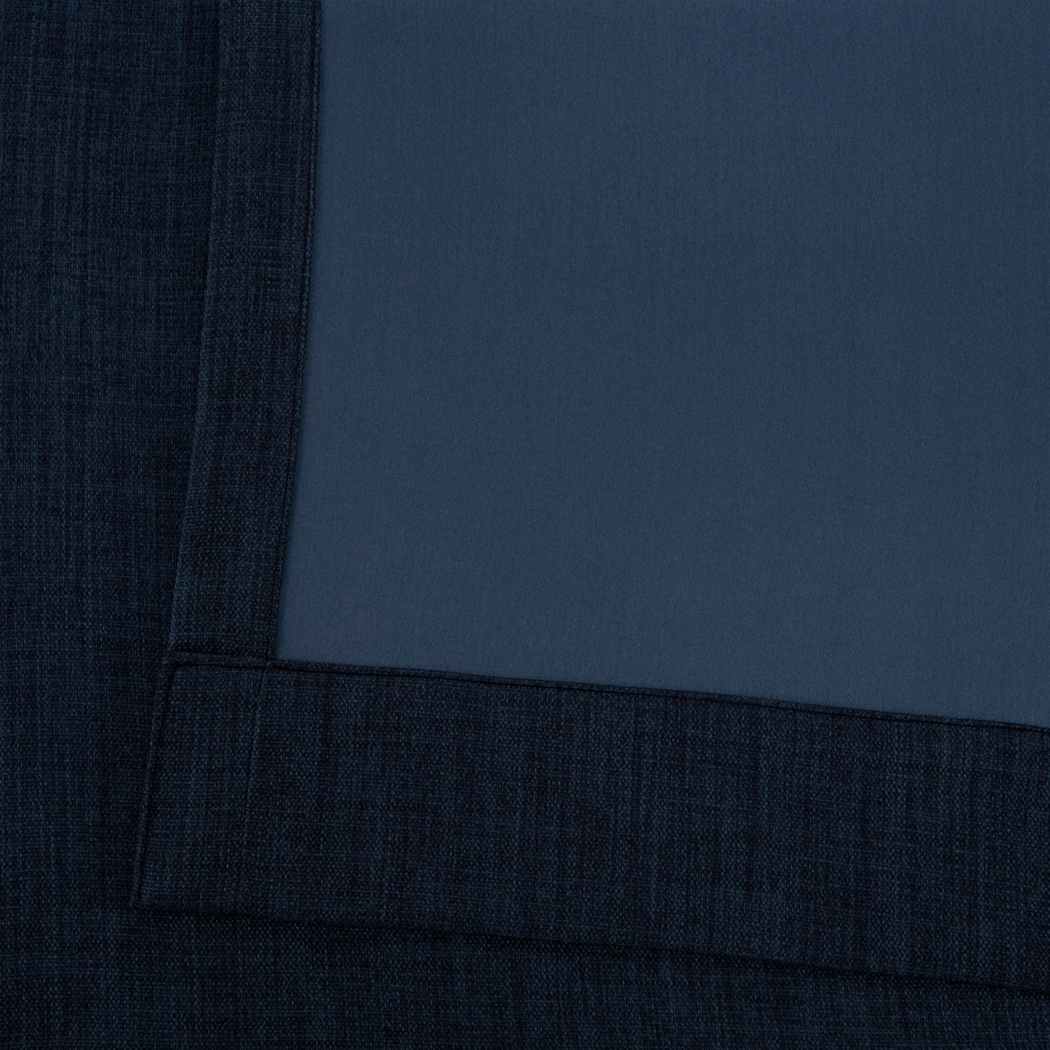 Indigo Faux Linen Grommet Blackout Room Darkening Curtain
