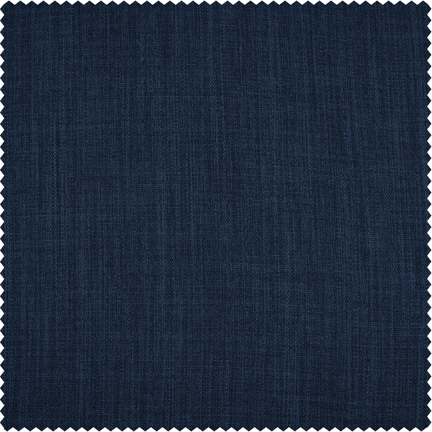 Indigo Faux Linen Blackout Room Darkening Swatch